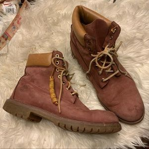 Timberlands rose pink boot 10